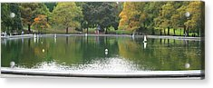 Sailboat Pond Panorama Acrylic Print by Christopher Kirby