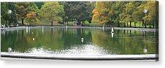 Sailboat Pond Panorama Acrylic Print