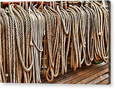 Sailboat Ropes And Deck Acrylic Print