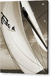 Sailboat Sails And Spinnaker Fate Beneteau 49 Charelston Sc Acrylic Print