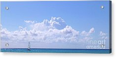 Acrylic Print featuring the photograph Sailboat Sea And Sky M5 by Francesca Mackenney