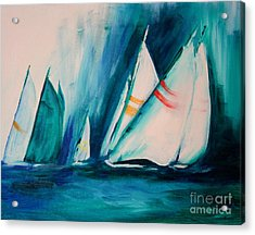 Sailboat Studies Acrylic Print by Julie Lueders