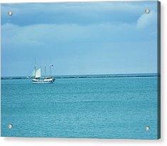 Sailboat Summer Acrylic Print by Anna Villarreal Garbis