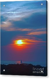Sailboat Sunset Acrylic Print by Todd Breitling