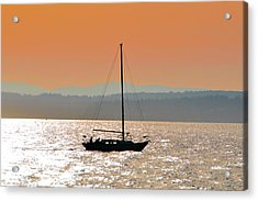 Sailboat With Bike Acrylic Print