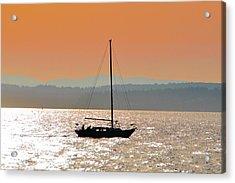 Sailboat With Bike Acrylic Print