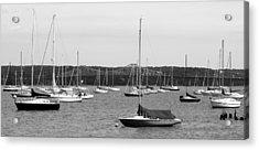 Sailboats And Tappanzee Bridge Acrylic Print by DazzleMe Photography