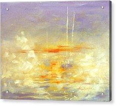 Sailboats At Dawn Acrylic Print