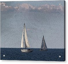 Sailboats At Sister Bay Acrylic Print