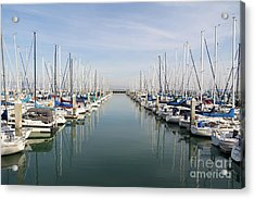 Sailboats At South Beach Harbor San Francisco Dsc5767 Acrylic Print