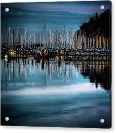 Sailboats At Sunset Acrylic Print by David Patterson