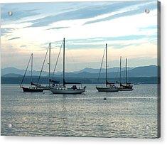 Sailboats Docked Acrylic Print