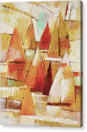 Sailboats Impression Acrylic Print