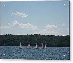 Sailboats In Eagle Harbor Acrylic Print