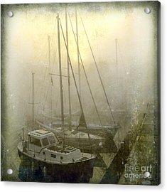 Sailboats In Honfleur. Normandy. France Acrylic Print by Bernard Jaubert