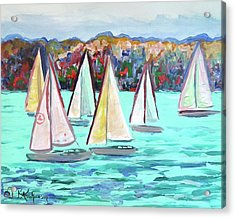 Sailboats In Spain I Acrylic Print