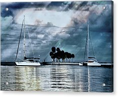 Sailboats Acrylic Print by Jim Hill