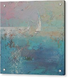 Sailboats Acrylic Print by Michael Creese