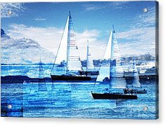 Sailboats Acrylic Print by MW Robbins