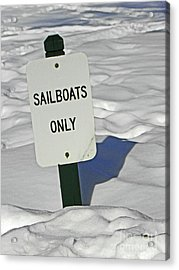 Sailboats Only Acrylic Print by Elizabeth Hoskinson