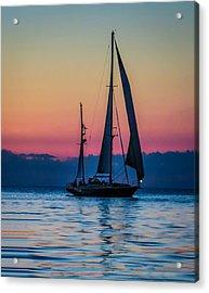 Sailing After Sunset Acrylic Print
