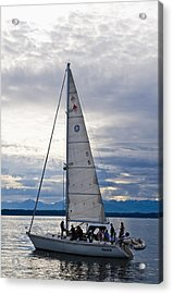 Sailing At Dusk Acrylic Print by Tom Dowd