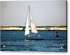 Sailing At Long Beach Island Acrylic Print by John Rizzuto