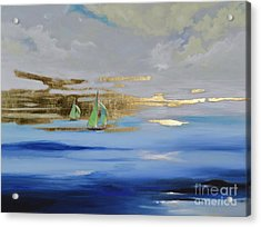 Acrylic Print featuring the painting Sailing Away by Mary Scott