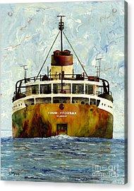 Sailing Away - The Edmund Fitzgerald Acrylic Print