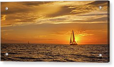 Sailing Away Two Acrylic Print by Steve Spiliotopoulos