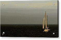 Acrylic Print featuring the photograph Sailing by Ben and Raisa Gertsberg