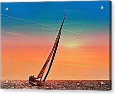 Sailing Boat Nautical 3 Acrylic Print