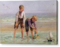 Sailing Boats  Acrylic Print by Edith Hume