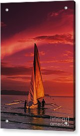 Sailing, Boracay Island Acrylic Print by William Waterfall - Printscapes