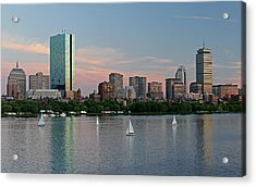 Sailing Boston Acrylic Print by Juergen Roth