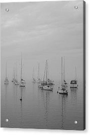 Sailing Bw Acrylic Print