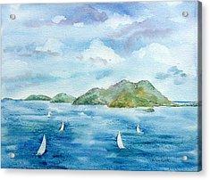 Sailing By Jost Acrylic Print