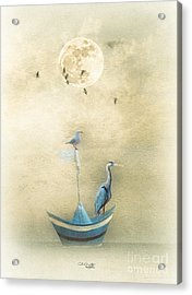 Sailing By The Moon Acrylic Print by Chris Armytage