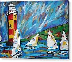Sailing Acrylic Print by Caroline Davis
