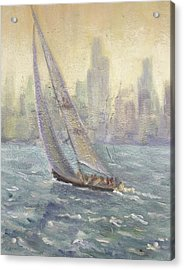 Sailing Chicago Acrylic Print