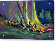 Acrylic Print featuring the digital art Sailing by Darren Cannell