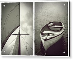 Sailing Diptych Acrylic Print by Patricia Strand