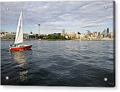 Sailing Downtown Acrylic Print by Tom Dowd