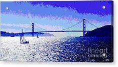 Sailing Golden Gate Bridge Acrylic Print by Jerome Stumphauzer