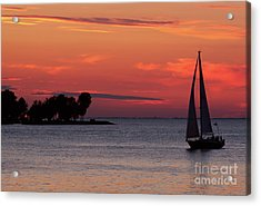 Acrylic Print featuring the photograph Sailing Home by Joel Witmeyer