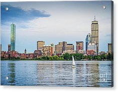Sailing In Back Bay Acrylic Print by Mike Ste Marie