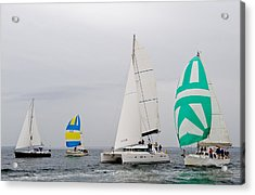 Sailing In The Mist Acrylic Print by Tom Dowd