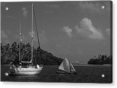 Sailing In The San Blais Islands Acrylic Print
