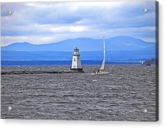Sailing In To Open Waters Acrylic Print by James Steele