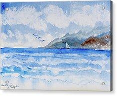 Sailing Into Moorea Acrylic Print